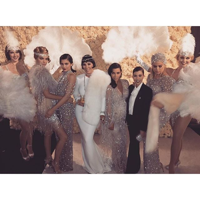 """This week marked a major milestone for Kris Jenner, who turned 60 years old on Thursday. In honour of her big day, the Kardashian-Jenner clan held an ultra-glam Great Gatsby-themed bash at The Lot in West Hollywood, California, on Friday night. Of course, Kim, Kourtney and Khloé Kardashian were all there, along with Kendall and Kylie Jenner, who was accompanied by her rapper boyfriend, Tyga. Also on hand for the event was Kanye West, who took centre stage for a performance, as well as family friends Will and Jada Pinkett Smith, Jonathan Cheban, Malika and Khadijah Haqq and Simon Huck, who posed for photos with Chrissy Teigen and John Legend.  In typical Kardashian fashion, the family took to Instagram to share fun snaps from the extravaganza. Kourtney posted a cute photo her and Kendall, captioned, """"Gatsby and Daisy,"""" while Kylie shared a picture of herself before the party, writing simply, """"Hello 1920."""" On Saturday, Kim uploaded a hilarious music video to YouTube, in which her and her sisters pay tribute to their mother and Justin Bieber, Katy Perry and Caitlyn Jenner all make surprise cameos. Kris's birthday celebration came just a few days after the Kardashian-Jenner ladies spent Tuesday ringing in Kendall's 20th at a star-studded bash in LA. Keep reading to see more of the clan's night out, and then check out Kris's most memorable moments in GIFs!"""