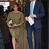 The Olive Green Christening Dress