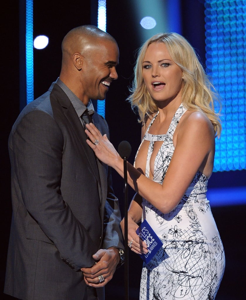 shemar moore got fresh with malin akerman when they presented an