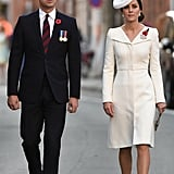 Kate's Wearing Her Ivory Alexander McQueen Look in Belgium in 2017