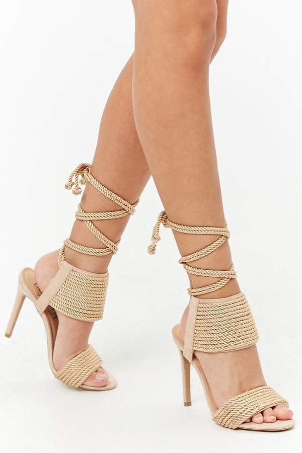 Forever 21 Privileged Shoes Lace-Up Heels