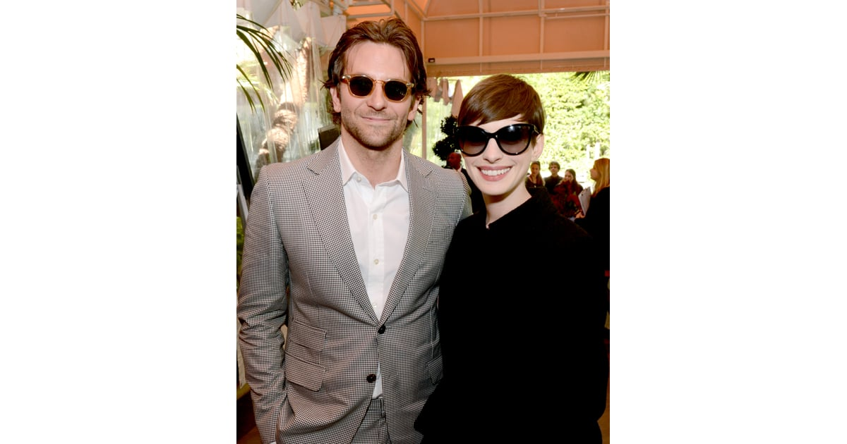 91afd9bf93 Bradley Cooper and Anne Hathaway were decked out in shades at ...