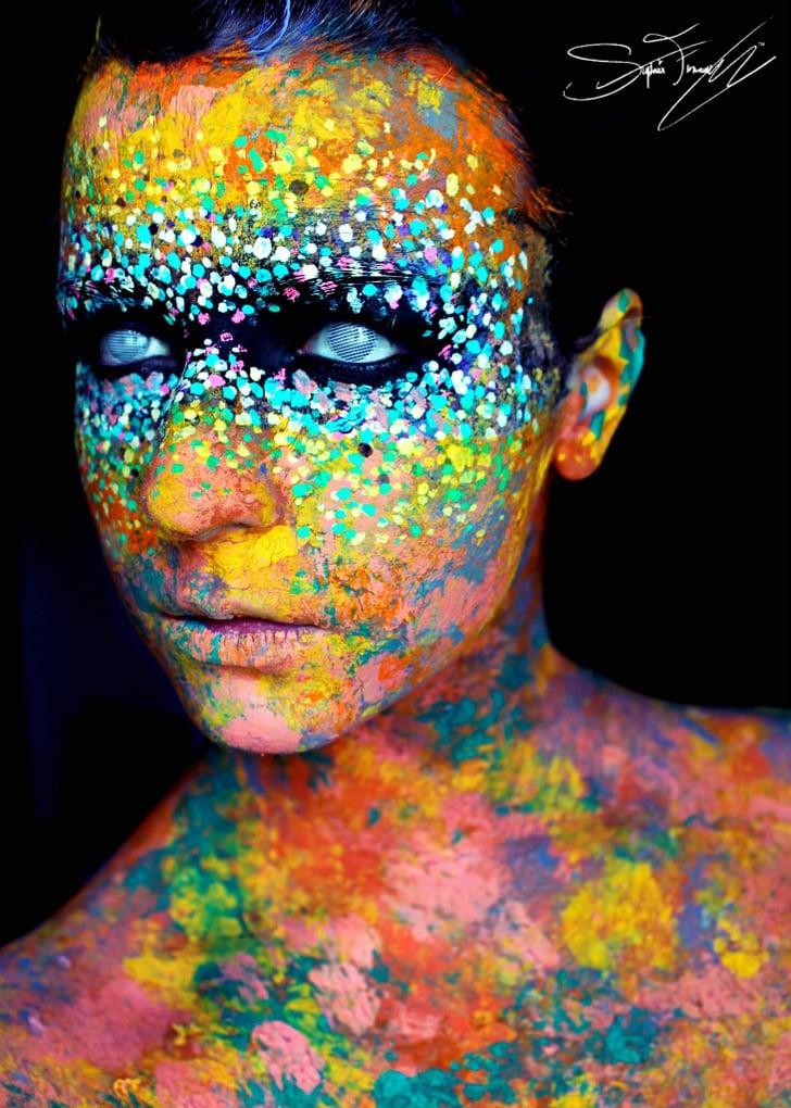 Neon Halloween Makeup Ideas Popsugar Beauty Photo 20