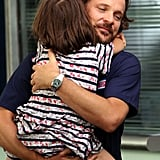 Peter Sarsgaard got a big hug from daughter Ramona.