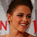 Kristen Stewart smiled in Sydney.