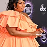 Lizzo's Crystal Nails at the 2019 American Music Awards