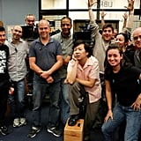 Ken Jeong posed with Community's camera crew. Source: Twitter user kenjeong