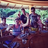 Harper Burtka-Harris snuggled with David Burtka during the family's festive trip to Mexico. Source: Instagram user instagranph