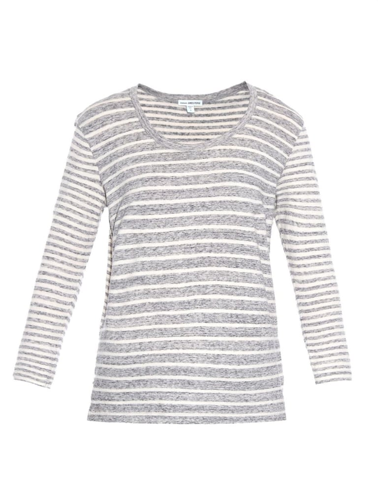 James Perse Collage Stripe Cotton-Jersey T-Shirt ($125)