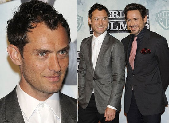 Photos of Jude Law and Robert Downey Jr at Sherlock Holmes Madrid Premiere, Jude Law to Propose to Sienna Miller