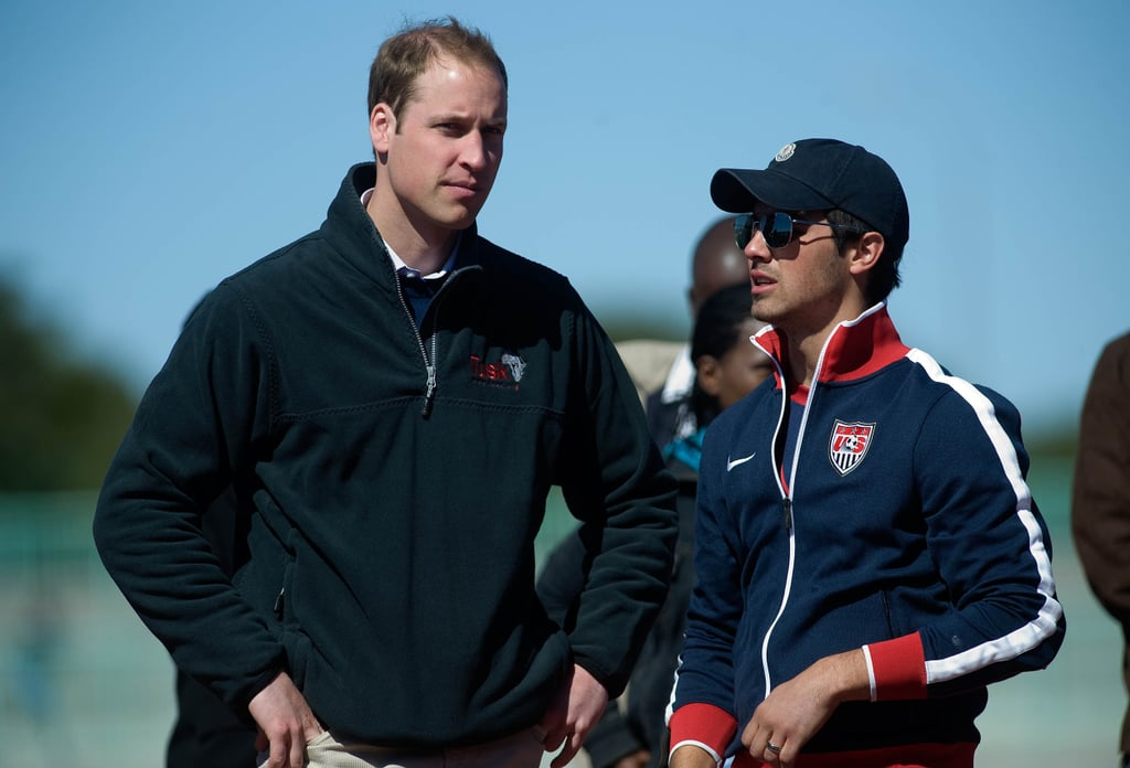 Video and Pictures of Prince William and Joe Jonas at Coaching For Conservation in Botswana