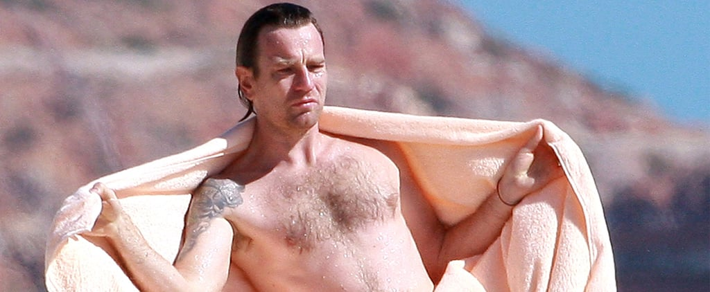 Ewan McGregor Shirtless in Mexico With His Family