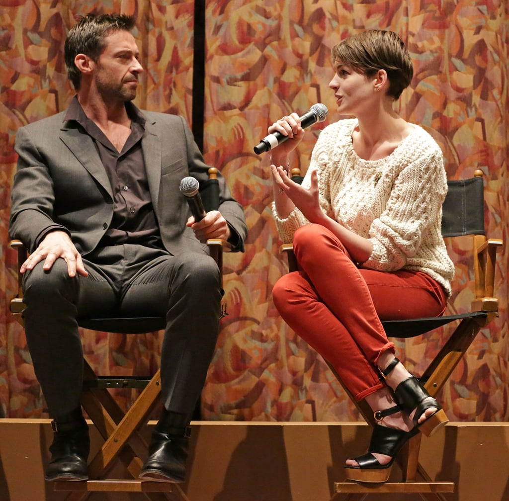 Anne Hathaway And Hugh Jackman Attended A SAG Screening