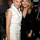 Michelle Pfeiffer and Chloe Moretz got to know each other at an event in LA.