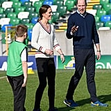 Kate Middleton's White Sweater in Northern Ireland