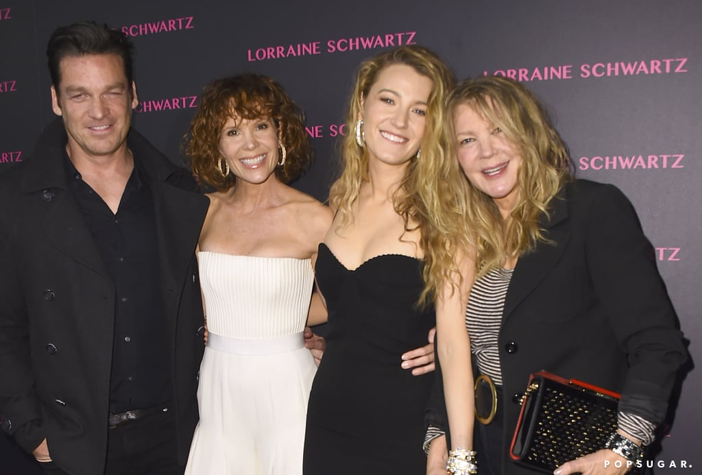 """Blake Lively and her older sister, Robyn, were a sight for sore eyes at the launch of Lorraine Schwartz's new jewelry line in LA on Tuesday night. Blake proudly showed off her curves in a figure-hugging black dress, while the iconic Teen Witch star was a vision in white. The duo struck a handful of fun poses on the red carpet with their mom, Elaine; Robyn's husband, Bart Johnson; designer Ofira Sandberg; and Beyoncé's mom and stepdad, Tina and Richard Lawson. Also in attendance were Rita Ora, Pharrell Williams, Usher, Julianne Hough, Halsey, Sofia Vergara, Sarah Hyland, Kim Kardashian, and Kris Jenner. Talk about a star-studded guest list!  In addition to her acting career, Blake has also dabbled in the jewelry industry. In fact, according to ET, Lorraine was heard saying that she and Blake actually codesigned the hoop earrings she was wearing. """"My sister's incredible like that,"""" Robyn gushed. """"She's multitalented."""" I think we can all agree that Ryan Reynolds is one lucky guy!       Related:                                                                                                           40 Times You Totally Wished You Were Blake Lively"""