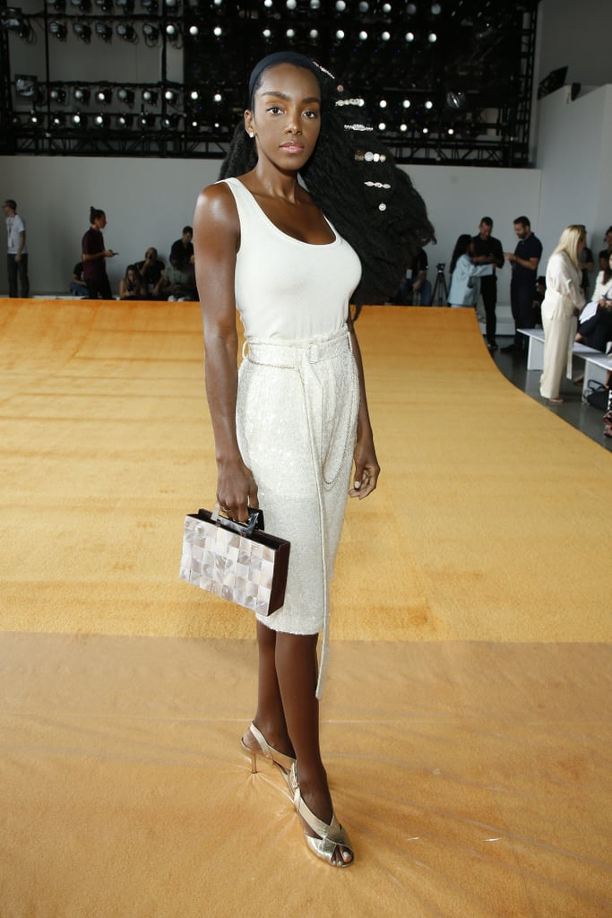 Cipriana Quann at the Sally LaPointe New York Fashion Week Show