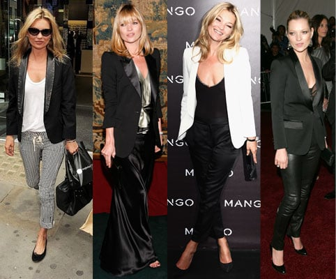 Pictures of Kate Moss Wearing Tuxedo Jackets, A Look Back at the Supermodel's Signature Style