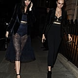 Kendall Jenner and Cara Delevingne in London October 2015