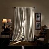 Martha Stewart Lucca Solid Max Blackout Rod Pocket Curtain Panels
