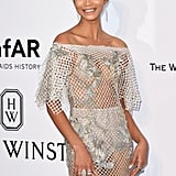 Chanel Iman's Sexy Marchesa Gown at Cannes 2016
