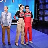 Kendall Jenner on The Ellen DeGeneres Show in a Navarro Cheer Crop Top