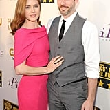 Amy Adams posed with her husband, Darren Le Gallo.