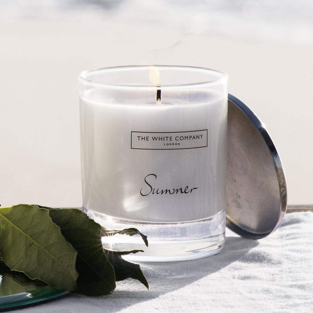 Inhale salty sea and ozone whiffs with this eucalyptus-sprinkled Summer beach candle ($32).