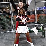 NBC's Tamron Hall and Willie Geist dressed as SNL's popular Spartans cheerleaders on Today.