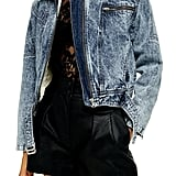 Topshop Tibet Borg Denim Jacket