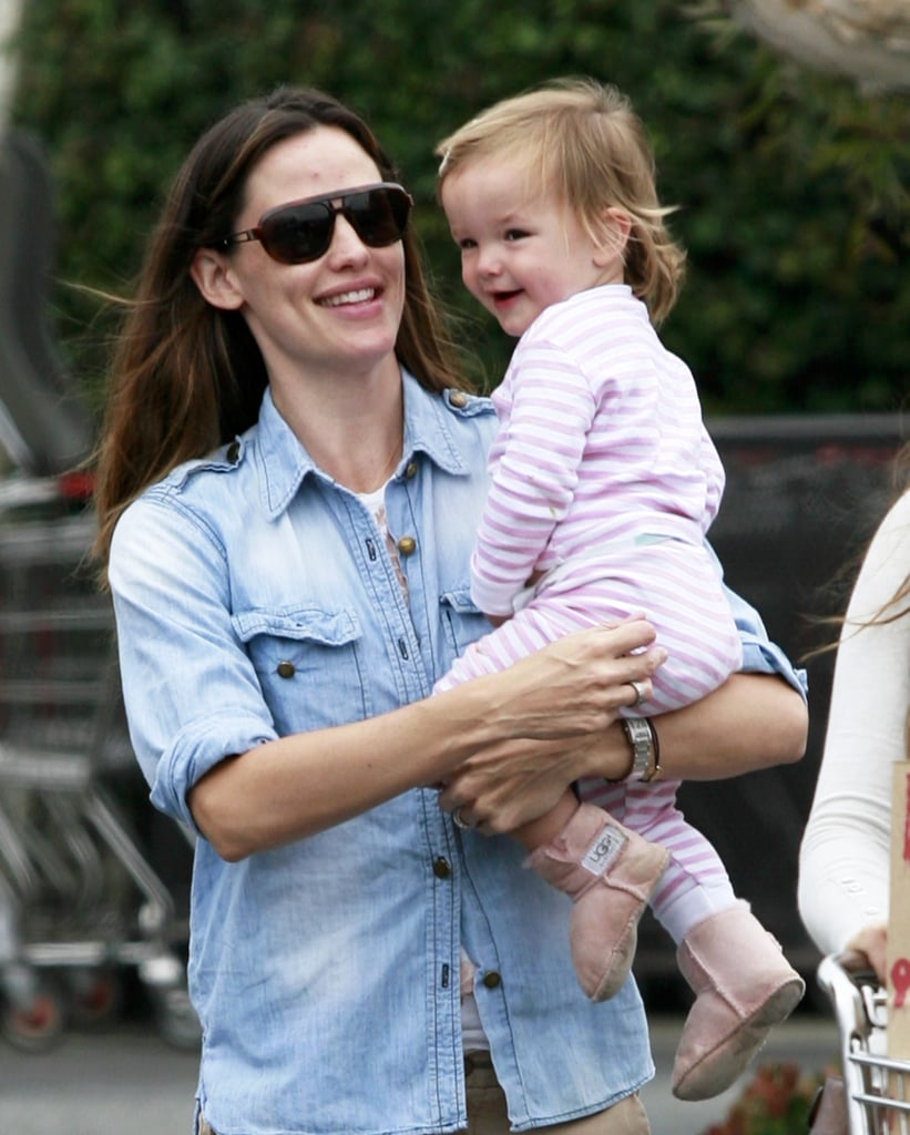 Jennifer Garner held on tight to Seraphina Affleck while out in LA in June 2010.