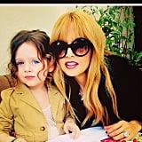 Rachel Zoe enjoyed Sunday brunch with Skyler. Source: Instagram user rachelzoe