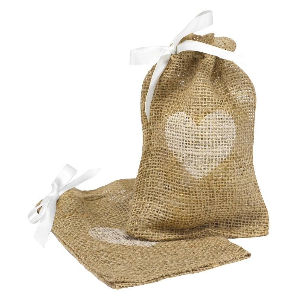 Hortense B. Hewitt Burlap Heart Design Wedding Favor Bag (25 Ct ...