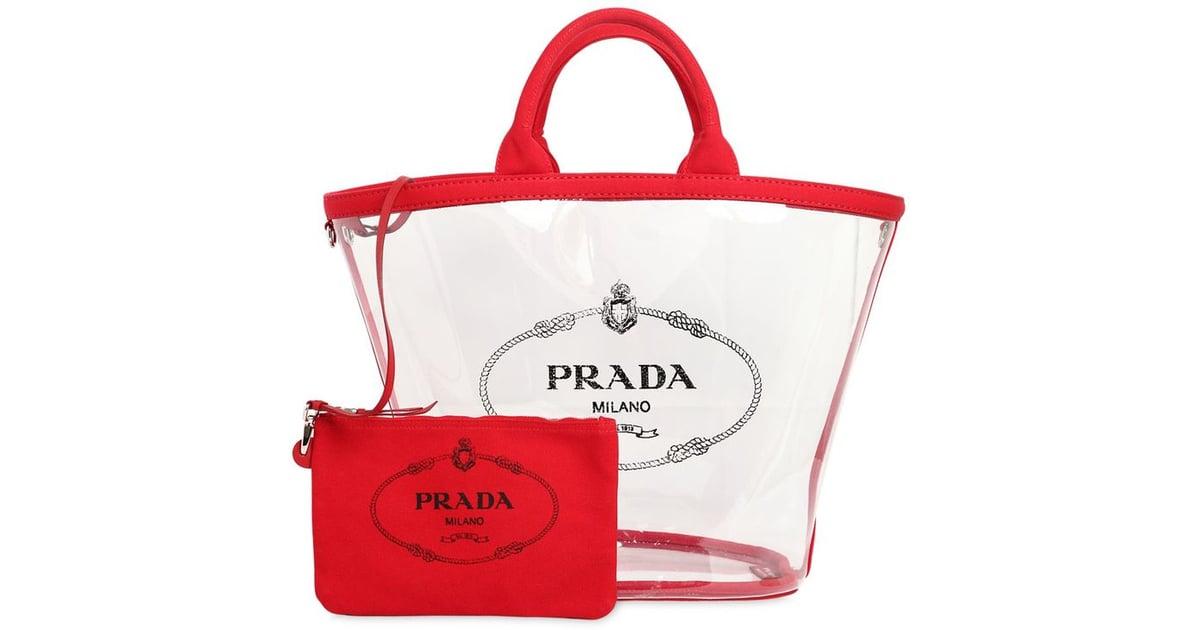 d8c76f9fb9db ... low price prada pvc tote bag pvc bags 2018 popsugar fashion photo 16  0cde0 b0d75