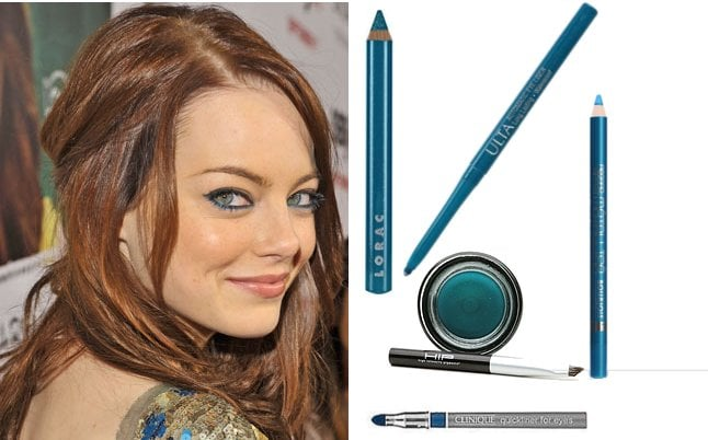 Get New Cool Blue Eyeliner Like Emma Stone's at the Easy A Premiere