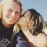 "Gwyneth had a sweet beach day with her ""little beauty"" in August 2015."