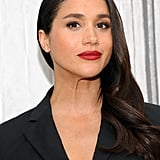 Meghan Markle With a Deep Side Part