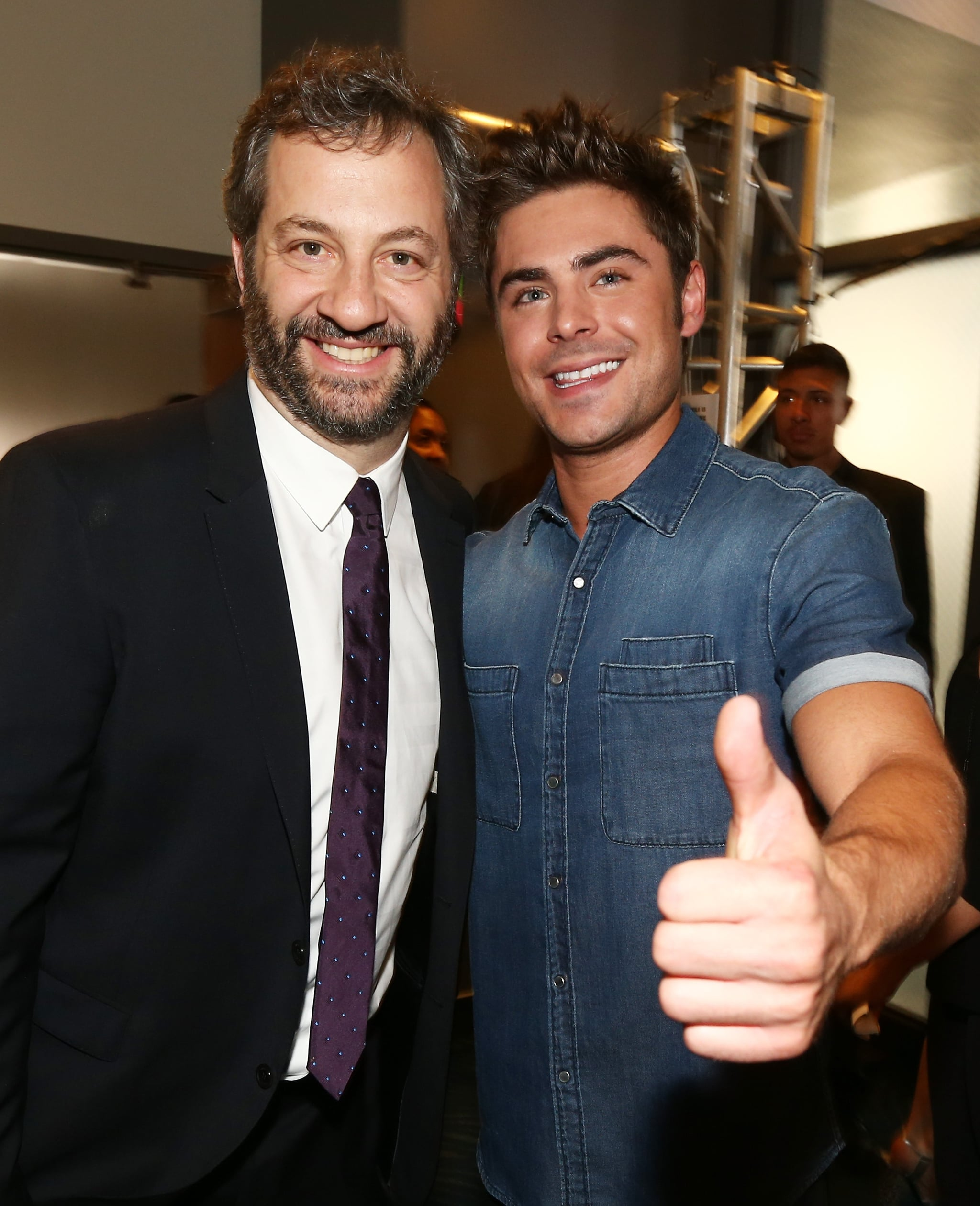 Judd Apatow and Zac Efron met up backstage.