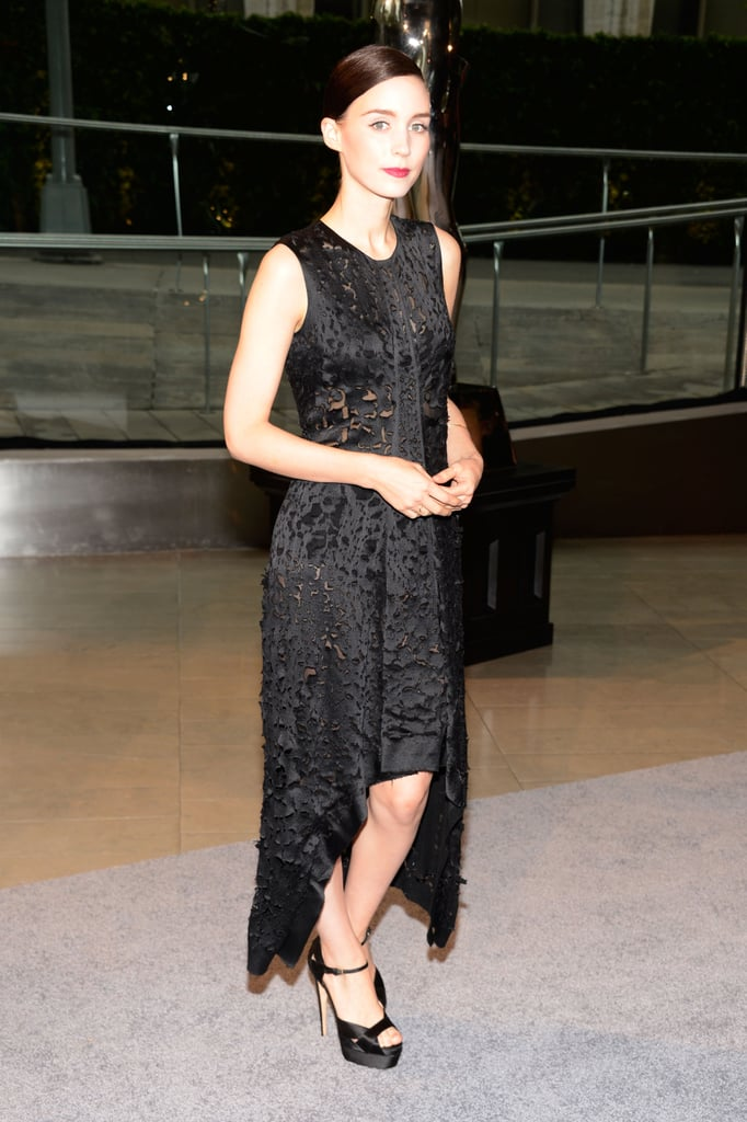 Rooney Mara wore all black to the CFDA Fashion Awards.