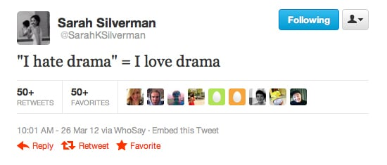 Sarah Silverman tells it like it is.