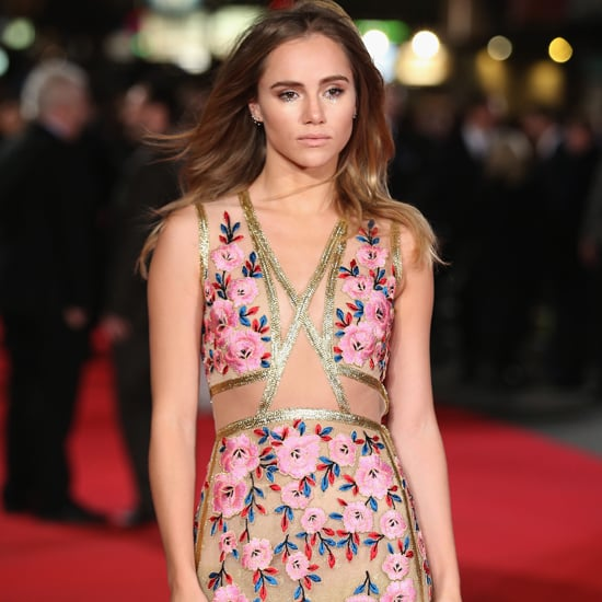Suki Waterhouse's Sheer Floral Reem Acra Gown