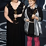 Lisa Westcott and Julie Dartnell at the 2013 Oscars.