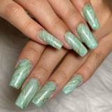 This Celebrity-Approved Green Jade Nail-Art Trend Is Perfect For Fall