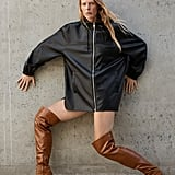 Zara Over the Knee Heeled Leather Boots