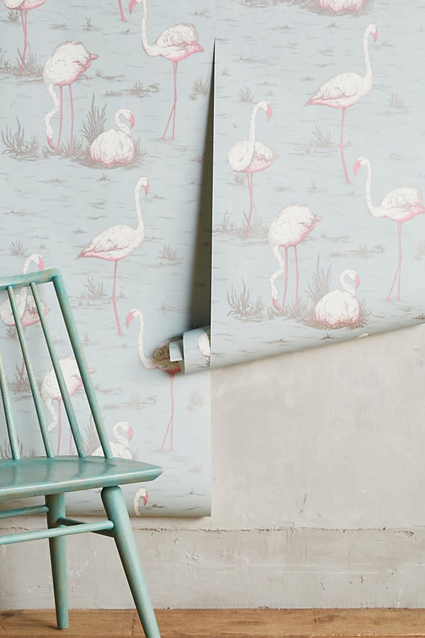 Wading Flamingos Wallpaper ($198)