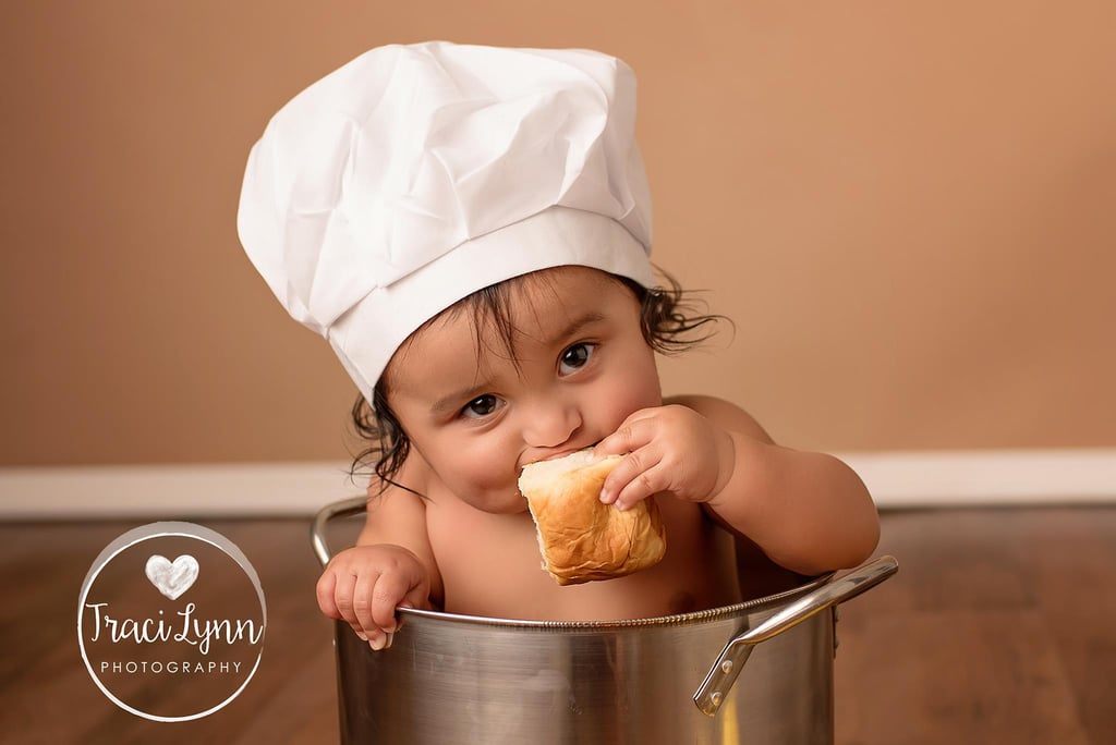 """Baby Is Living His Best Life During Fried Chicken """"Smash"""" Photo Shoot"""