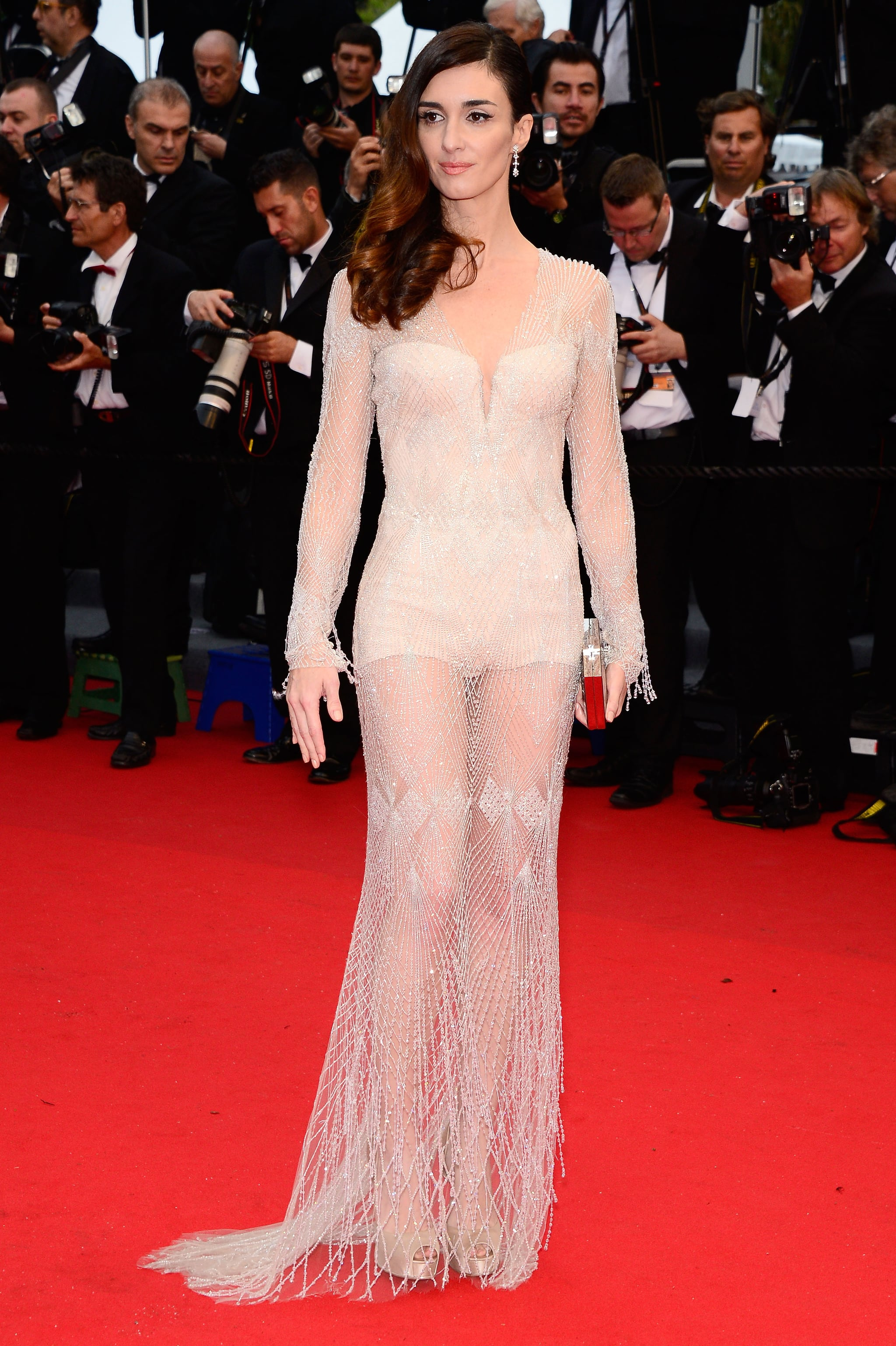 Paz Vega wore a Roberto Cavalli frock to the Cannes Film Festival.