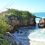 An arch made of rocks in the town of Cabo Rojo.
