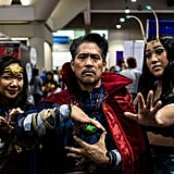 Wonder Woman, Doctor Strange, and Mantis