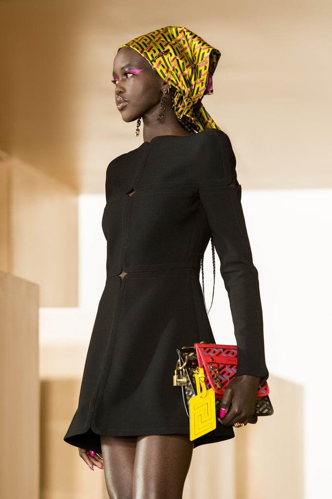 The Babushka Scarf Trend: Versace Autumn 2021